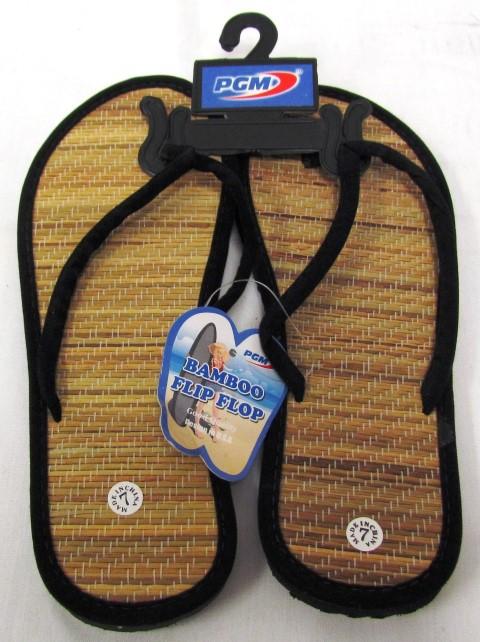 b8bd23798001 Bamboo Flip Flop w  Black Cloth ...